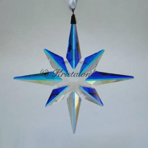 Christmas Ornament Star Crystal Ab