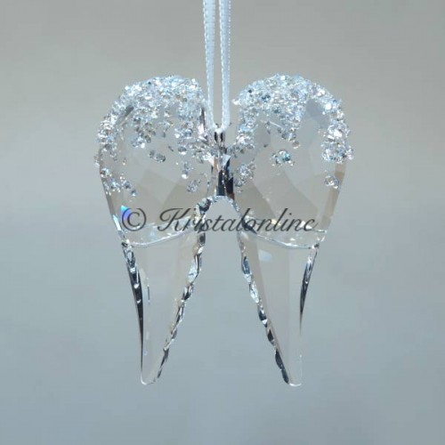 Crystal Christmas Ornaments.Christmas Ornament Angel Wings