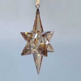 Swarovski Kristal | Silver Crystal | Kerst | Kerst Ornament - 3D Ster - Golden Shadow - Groot | 5301220
