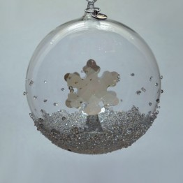 Swarovski Kristal | Silver Crystal | Kerst | Kerstbal Ornament - Jaarlijkse Editie 2019 | 5453636
