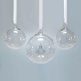 Swarovski Kristal | Silver Crystal | Kerst | Kerstbal Ornament - Set - Jaarlijkse Editie 2017 | 5268012