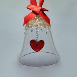 Swarovski Kristal | Silver Crystal | Kerst | Kerstbel Ornament - Hart - GS | 5464881