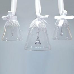 Swarovski Kristal | Silver Crystal | Kerst | Kerstbel Ornament - Set - Jaarlijkse Editie 2017 | 5268013