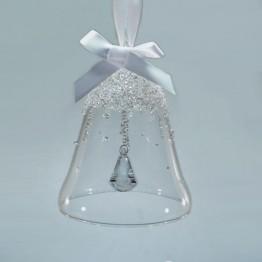 Swarovski Kristal | Silver Crystal | Kerst | Kerstbel Ornament - Jaarlijkse Editie 2017 | 5241593